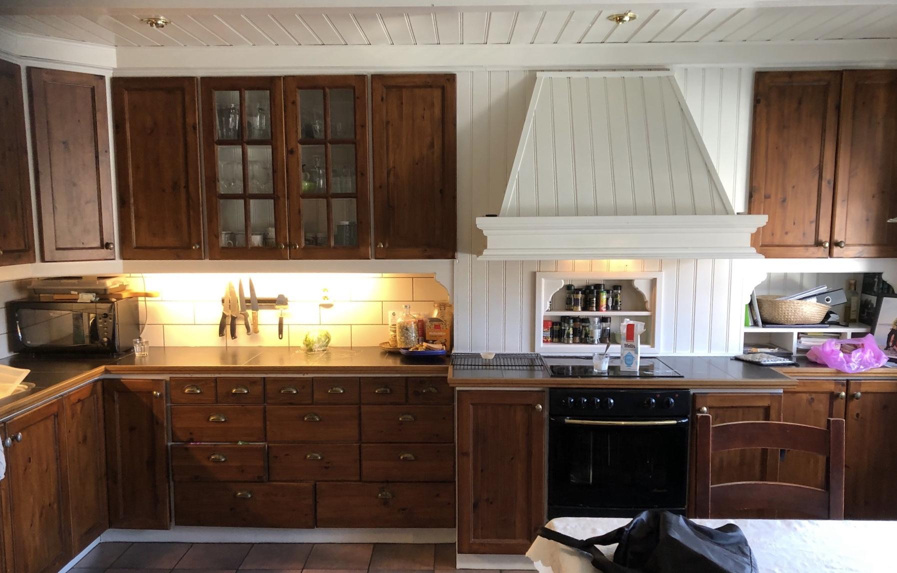 Kjøkkeninnretning før og etter 2